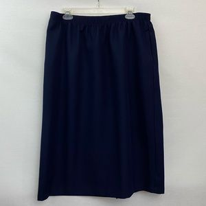 Bonworth Blue MIDI Skirt Size XL T-47